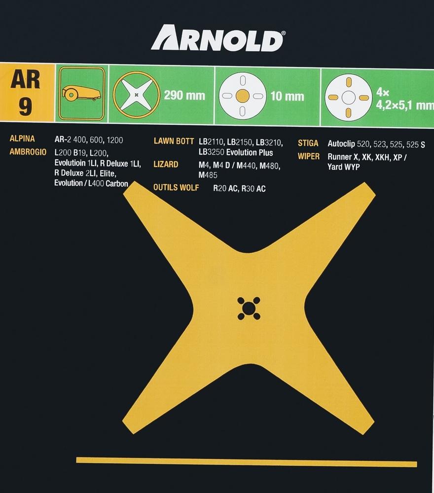 Kniv Stiga Autoclip 520-525 4-blad - Arnold