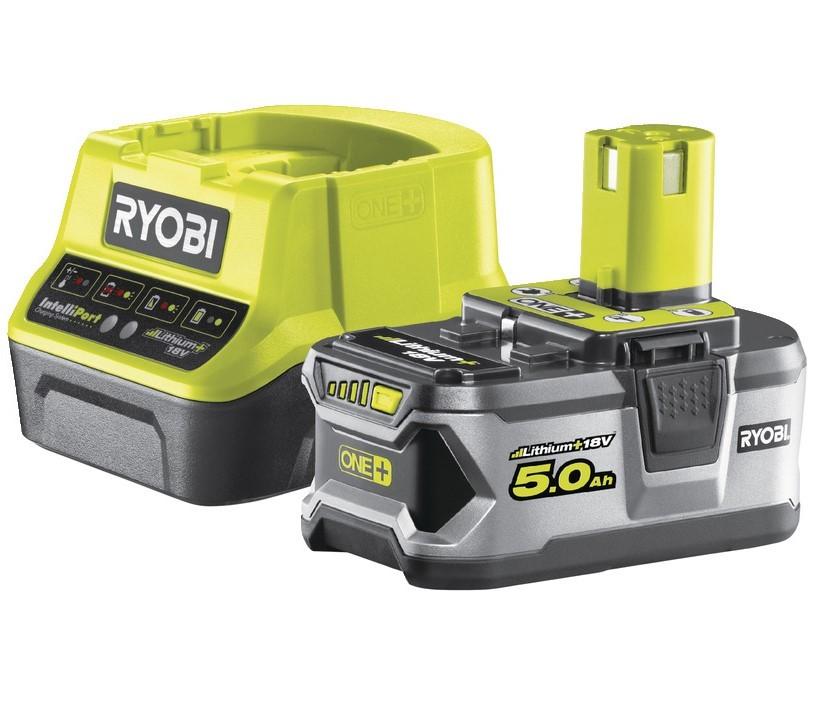 Ryobi RC18120-150 5,0 AH Lithium+ Batteri / Laddare 18V