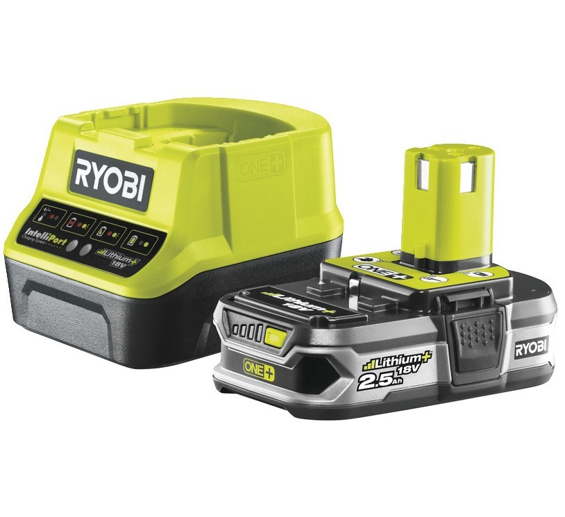 Ryobi RC18120-125 18V 2,5 AH Lithium+ Batteri / Laddare *