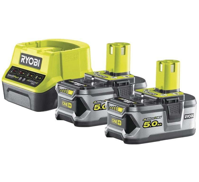 Ryobi RC18120-250 2x 18V 5,0 AH Lithium+ Batterier / Laddare