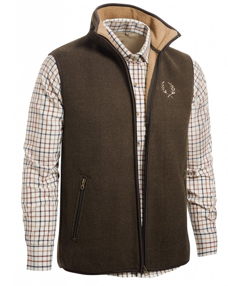 Mainstone Fleece Waistcoat Chevalier - Brown