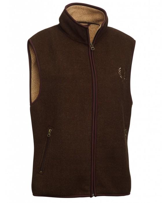 Mainstone Fleece Waistcoat Dam Chevalier - Brown *