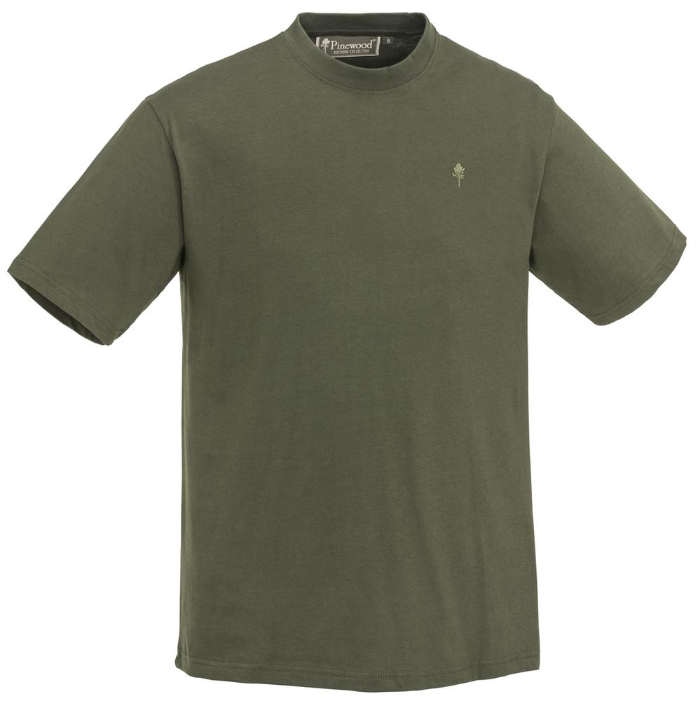 T-Shirt 3-Pack Pinewood - Grön/Jaktbrun/Khaki *