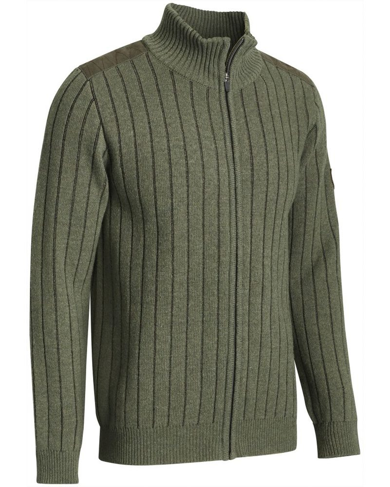 Fjord Plated Wool Cardigan Chevalier