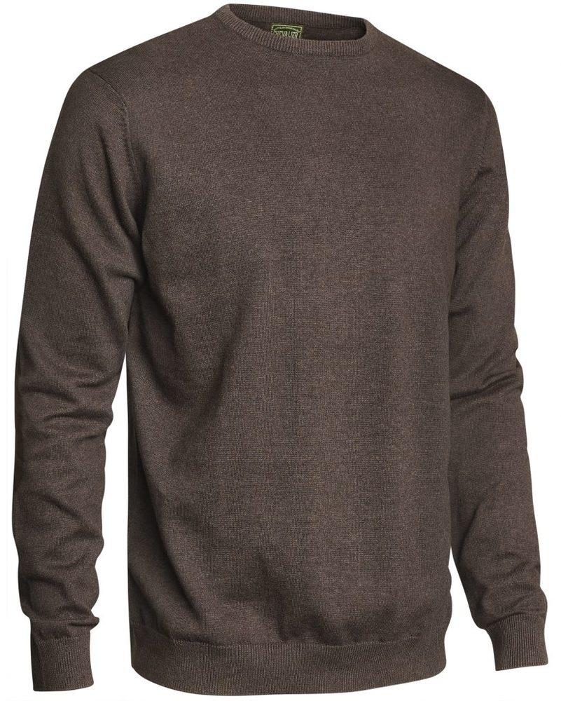 Gaup Cotton Sweater RN Chevalier - Brown