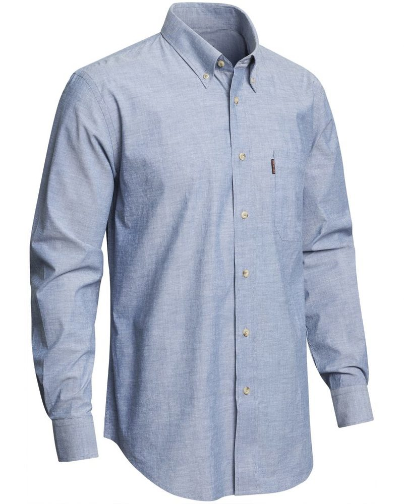 Camp Chambray Shirt BD LS Chevalier - Blue