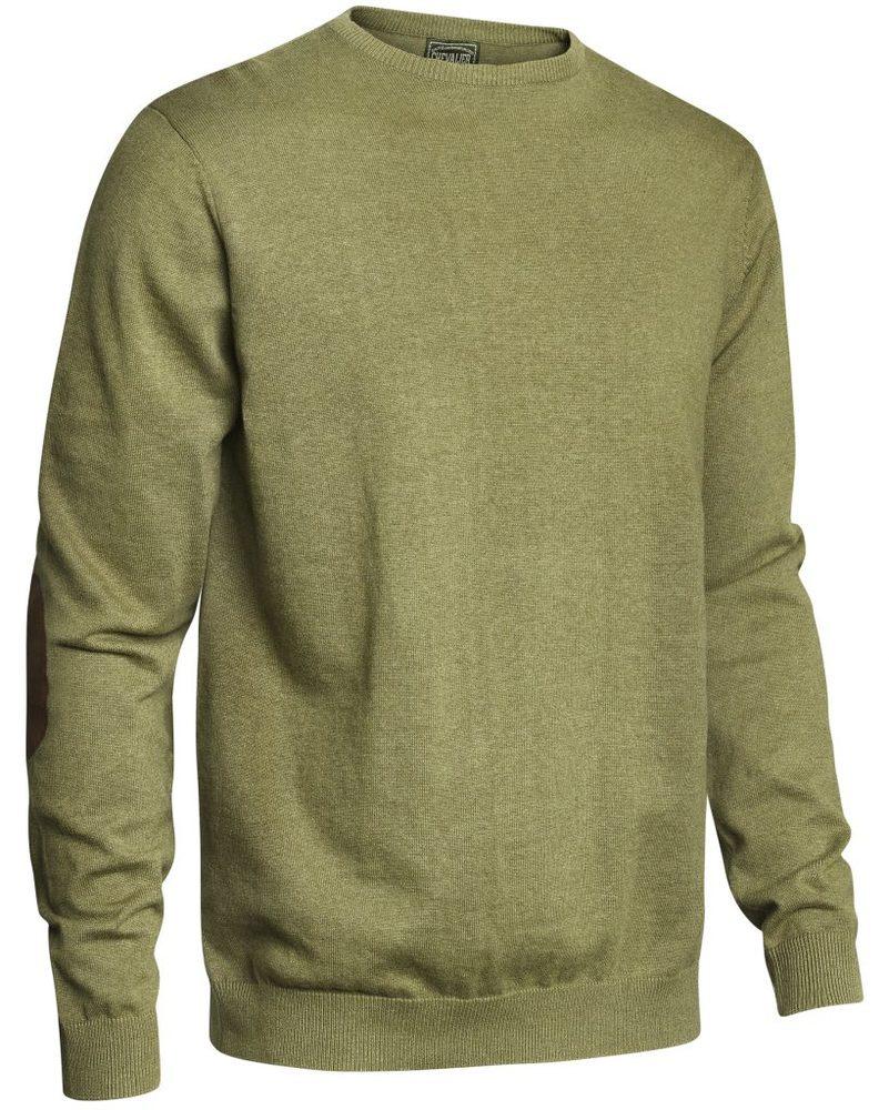 Gaup Cotton Sweater RN Chevalier - Green