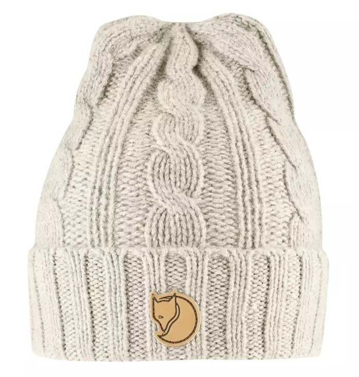 Braided Knit Hat Mössa Fjällräven - Chalk White