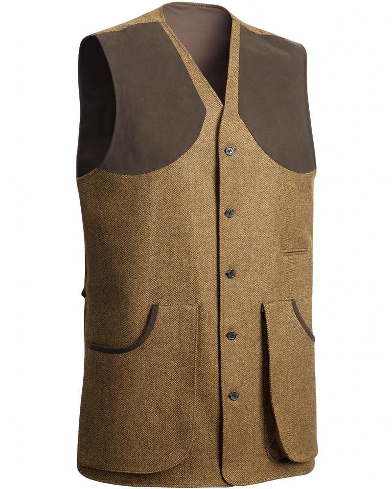 Hawick Tweed Shooting Vest Chevalier - Brown