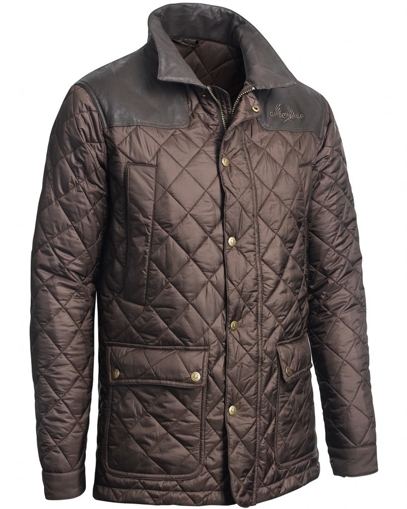 Bramley Quilted Coat Chevalier - Brown