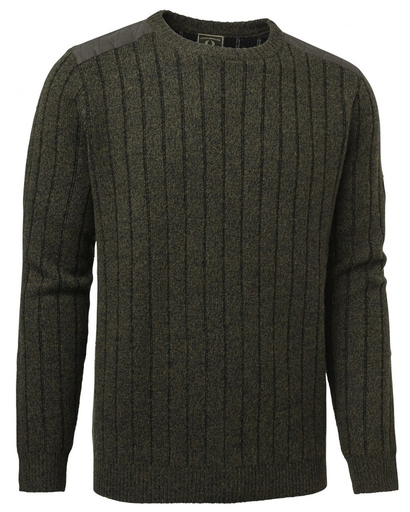 Fjord Plated RN Sweater Chevalier - Green
