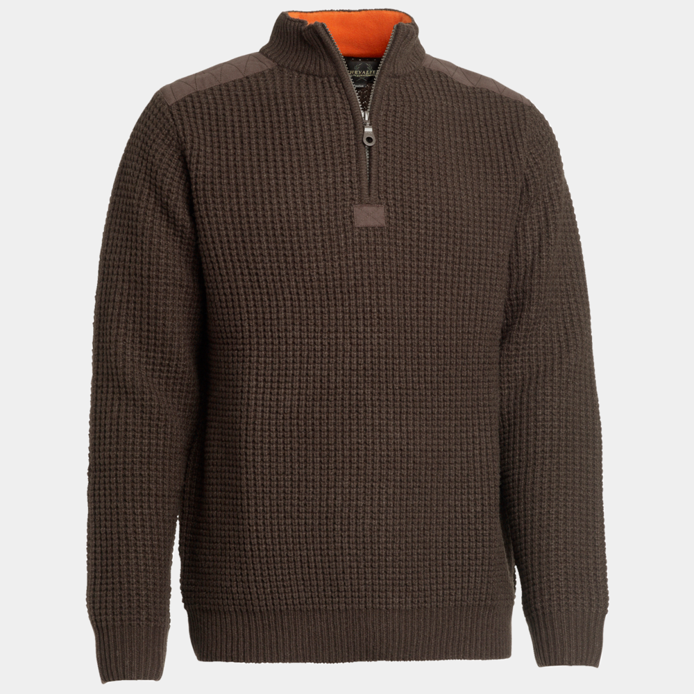 Rosebud Wool Pullover Chevalier - Brown