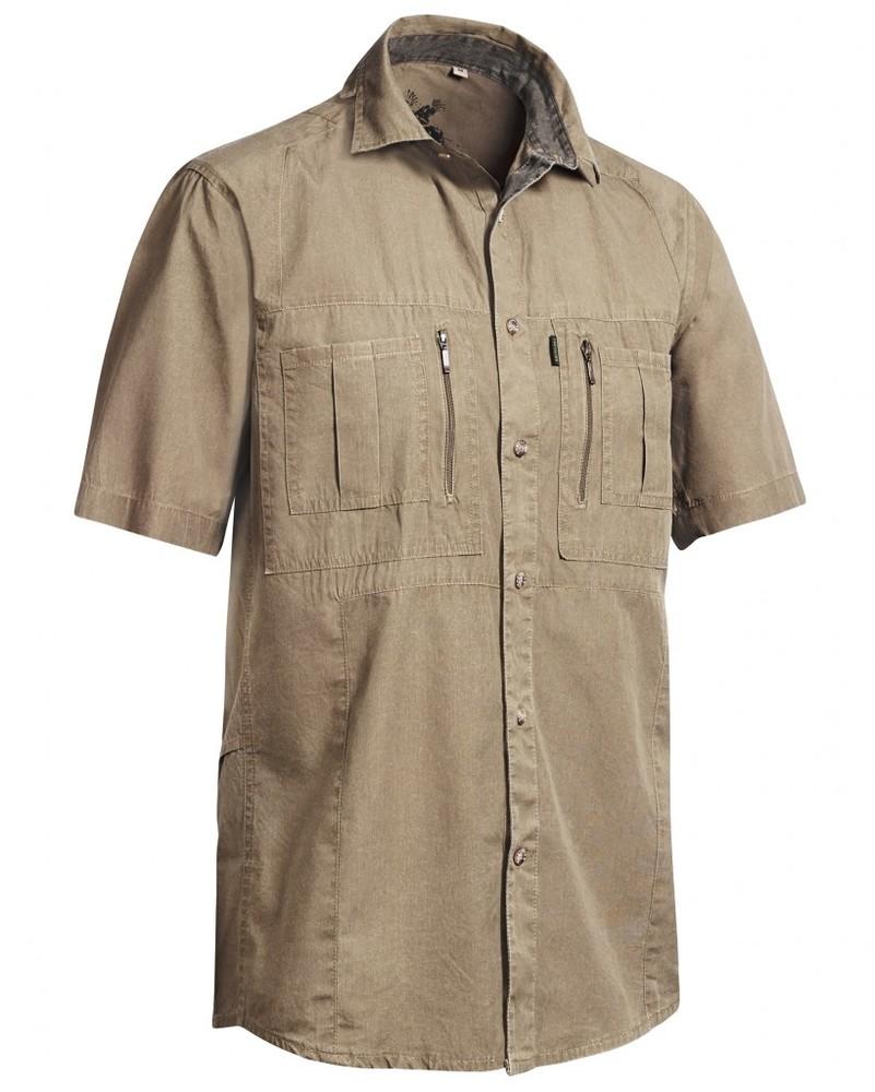 Gobi Safari Shirt Short Sleeve Chevalier - Sand