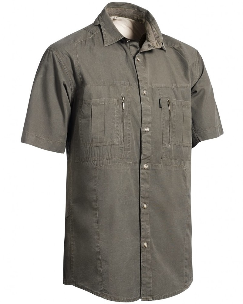 Gobi Safari Shirt Short Sleeve Chevalier - Tobacco