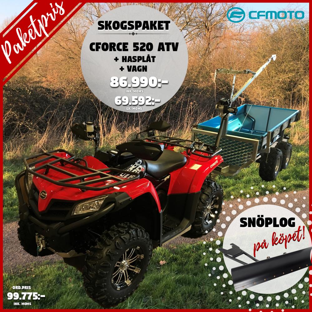 ATV Skogspaket CForce 520/Hasplåt/Vagn