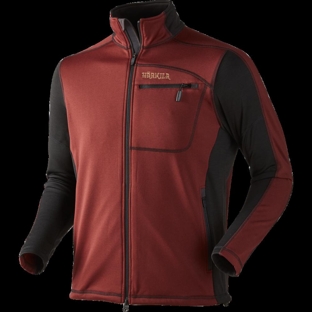Vestmar Hybrid Fleece Jacka Härkila - Syrah Red Melange *