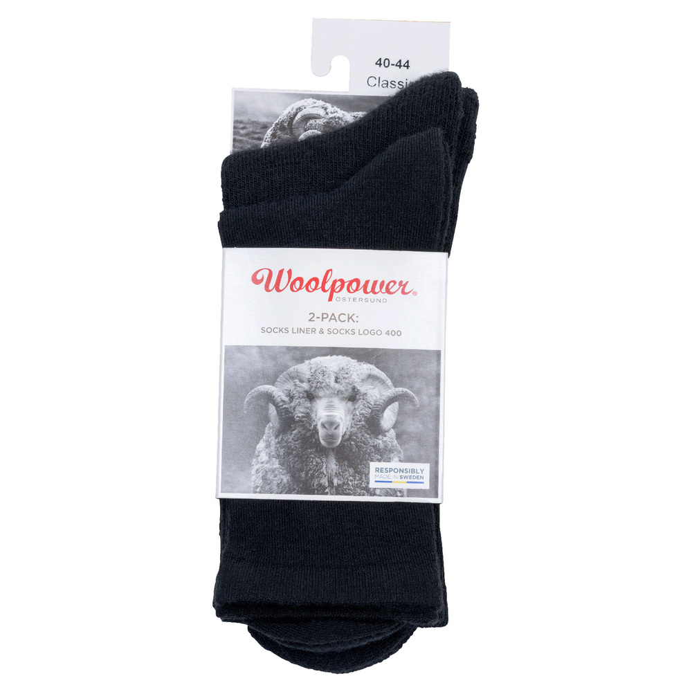 Woolpower Socks 2-pack Logo + Liner