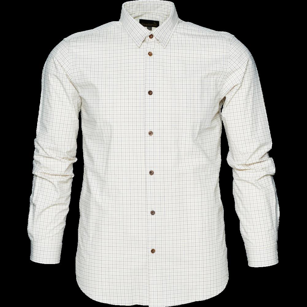 Colin L/S skjorta B/U Härkila - Bitter Chocolate Check