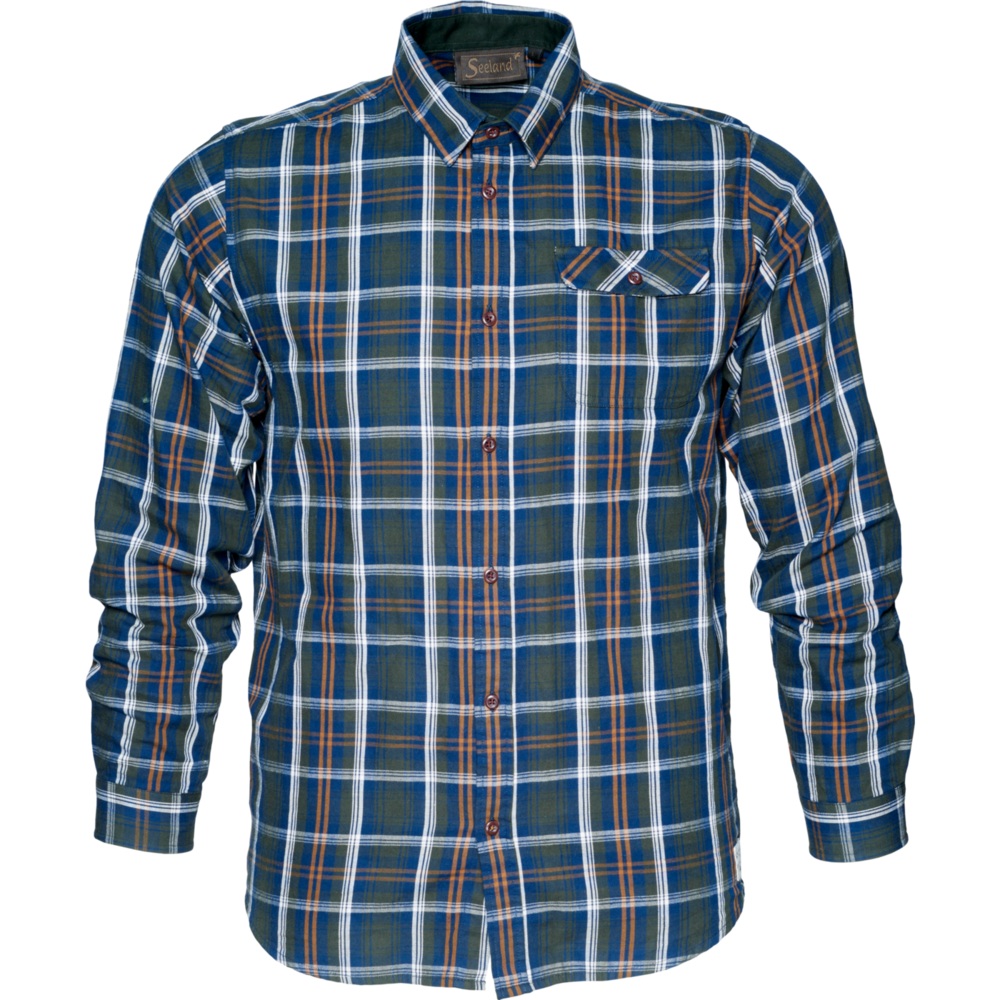Gibson Skjorta Härkila - Carbon Blue Check