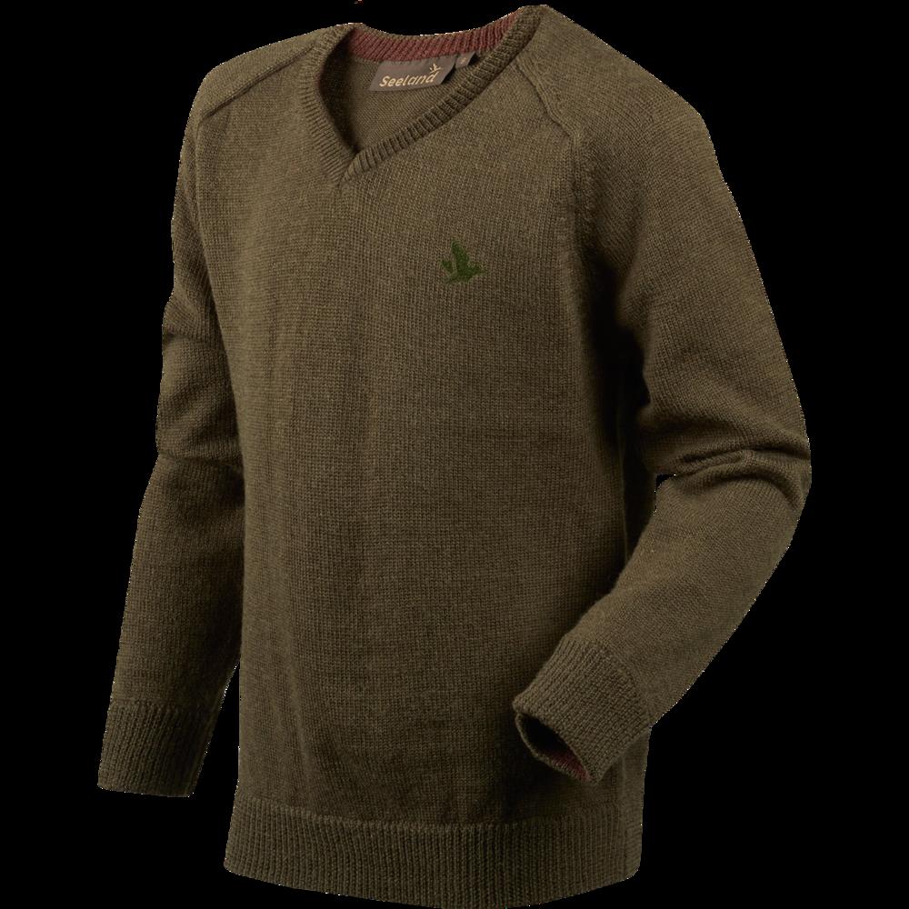 Clent Kids Pullover Härkila - Shaded Olive Melange
