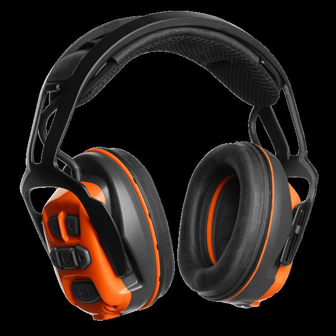 Hörselskydd X-COM R Bluetooth Hjässbygel Husqvarna *