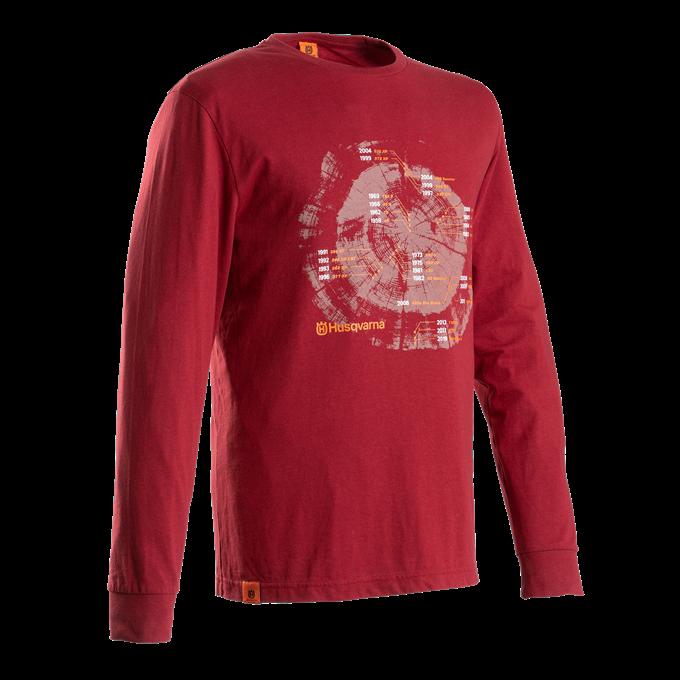 Xplorer T-shirt Långärmad Husqvarna - Lingonröd *