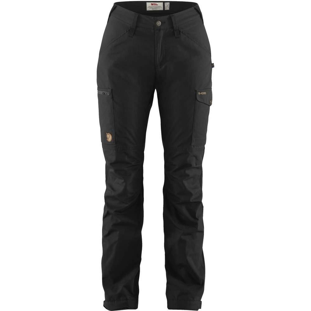 Kaipak Trousers Curved W Fjällräven - Black