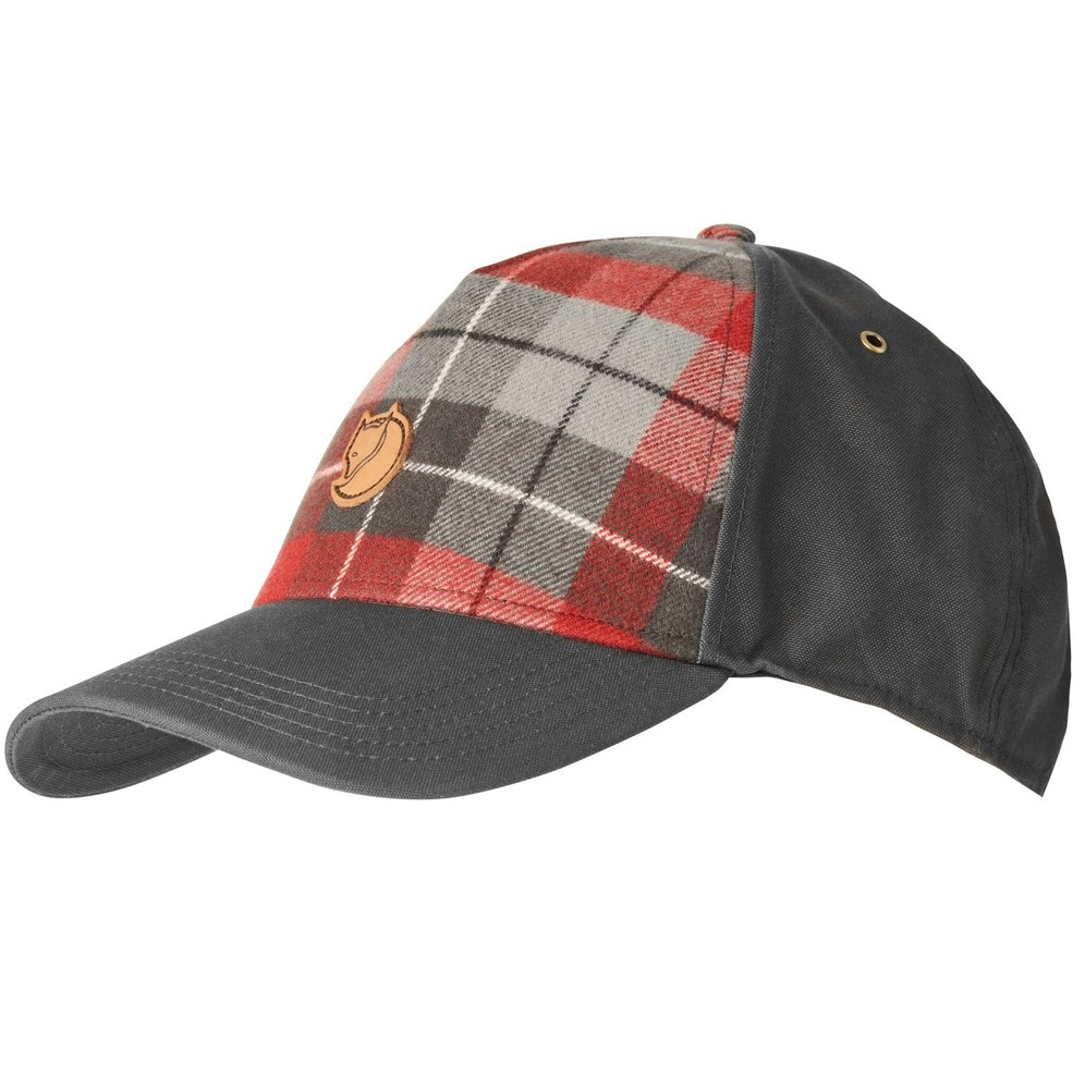 Övik Plaid Cap Fjällräven - Dark Grey *