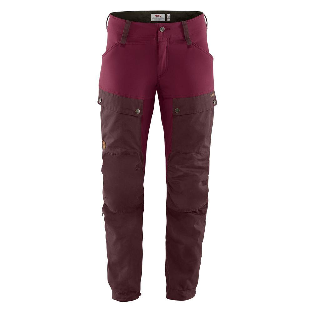 Keb Trousers W Regular Byxa Dam Fjällräven - Dark Garnet/Plum *