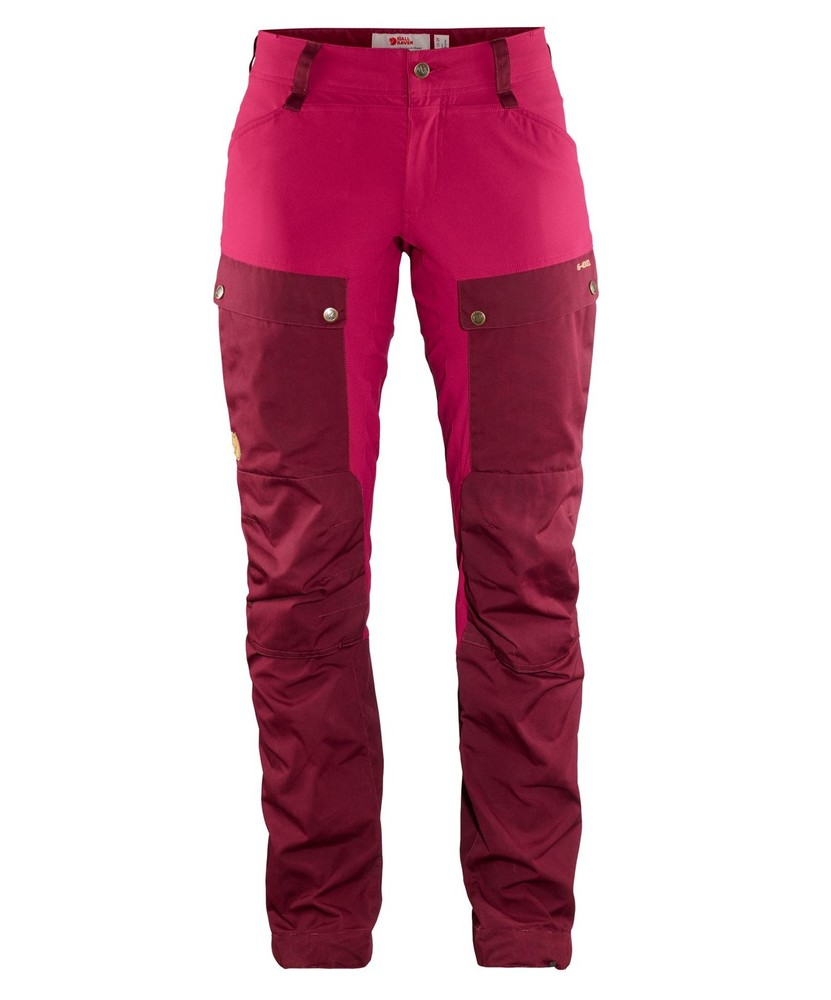Keb Trousers Curved W Regular Fjällräven - Dark Garnet/Plum *