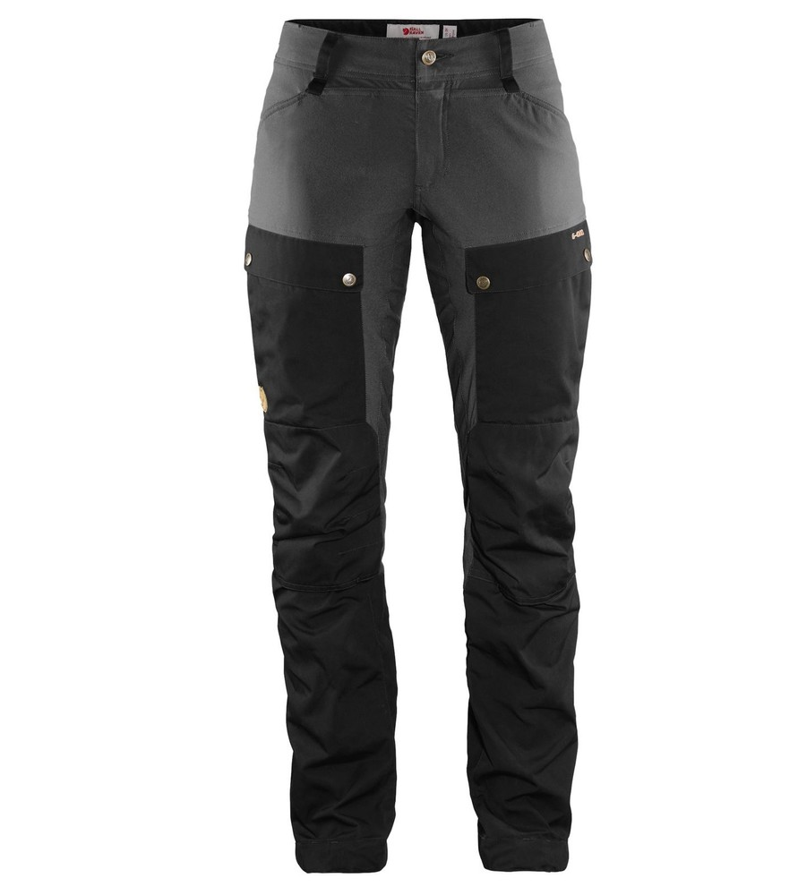 Keb Trousers Curved W Regular Fjällräven - Black/Stone Grey *