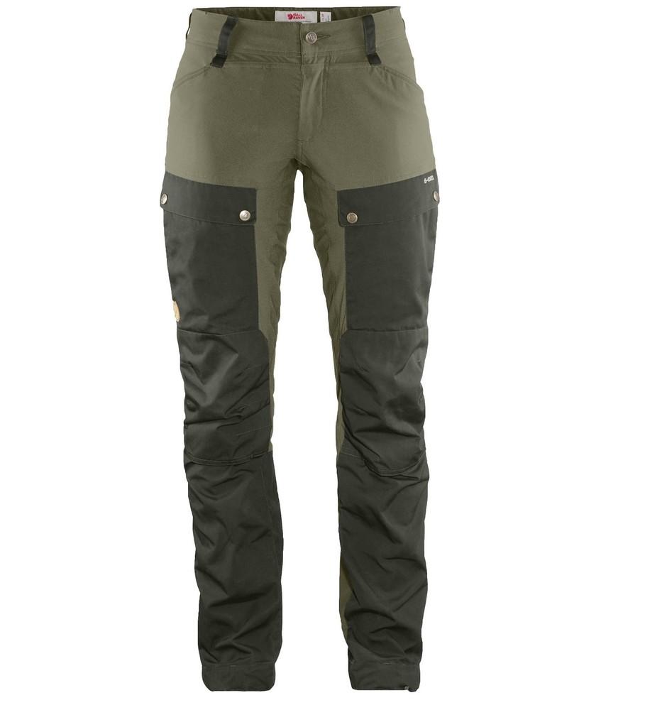 Keb Trousers Curved W Regular Fjällräven - Deep Forest/Laurel Green *