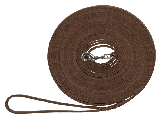 Spårlina Rustic Råläder 10 m Trixie - Mörkbrun