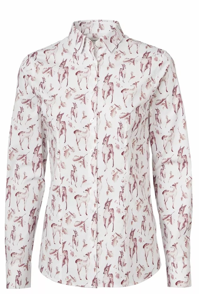 Ängsö Shirt Dam Chevalier - Deer Print