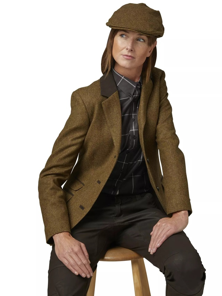 Hawick Tweed Lady Blazer Chevalier - Brown