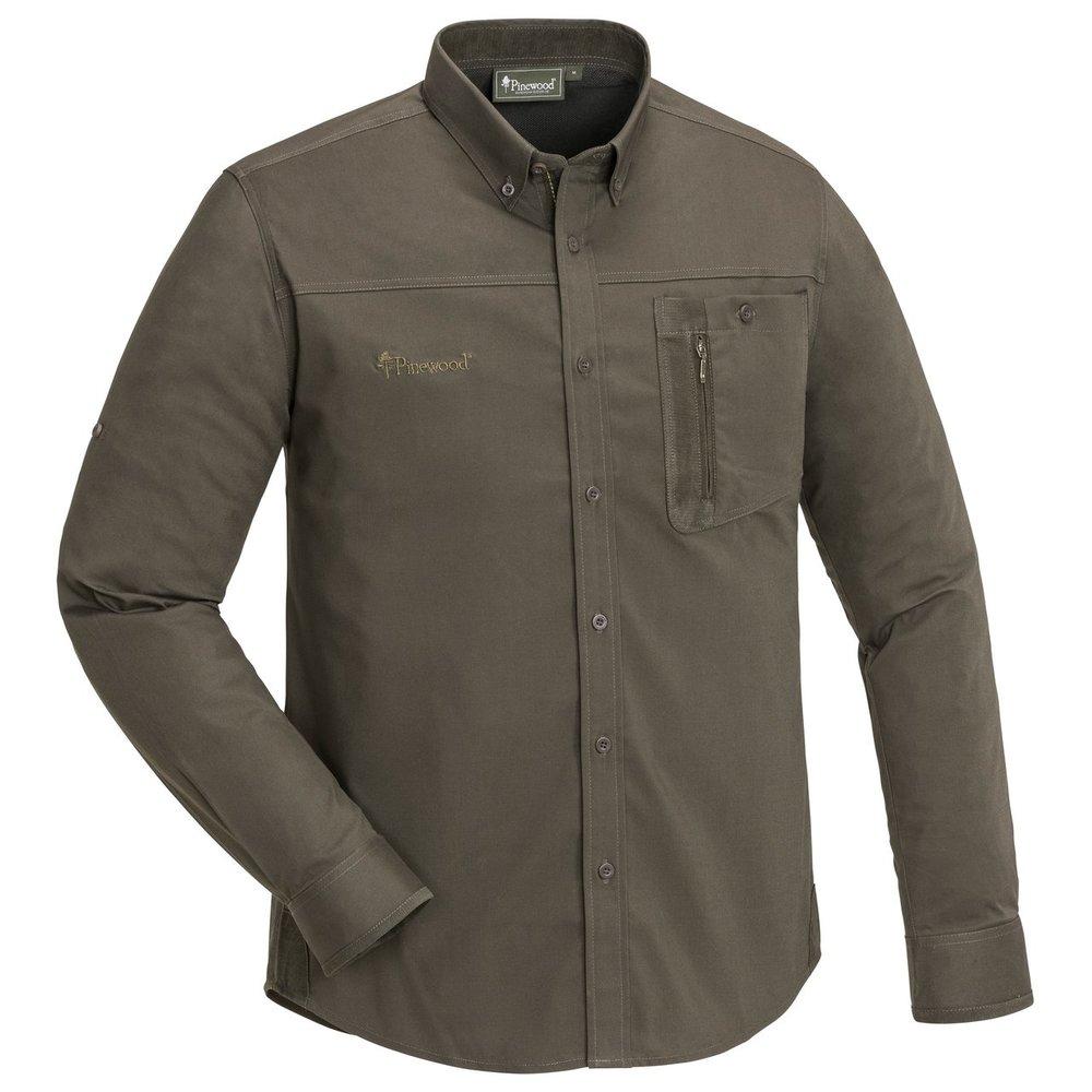 Tiveden TC-Stretch Anti Insect Skjorta Pinewood - Mörkoliv/Mockabrun  *