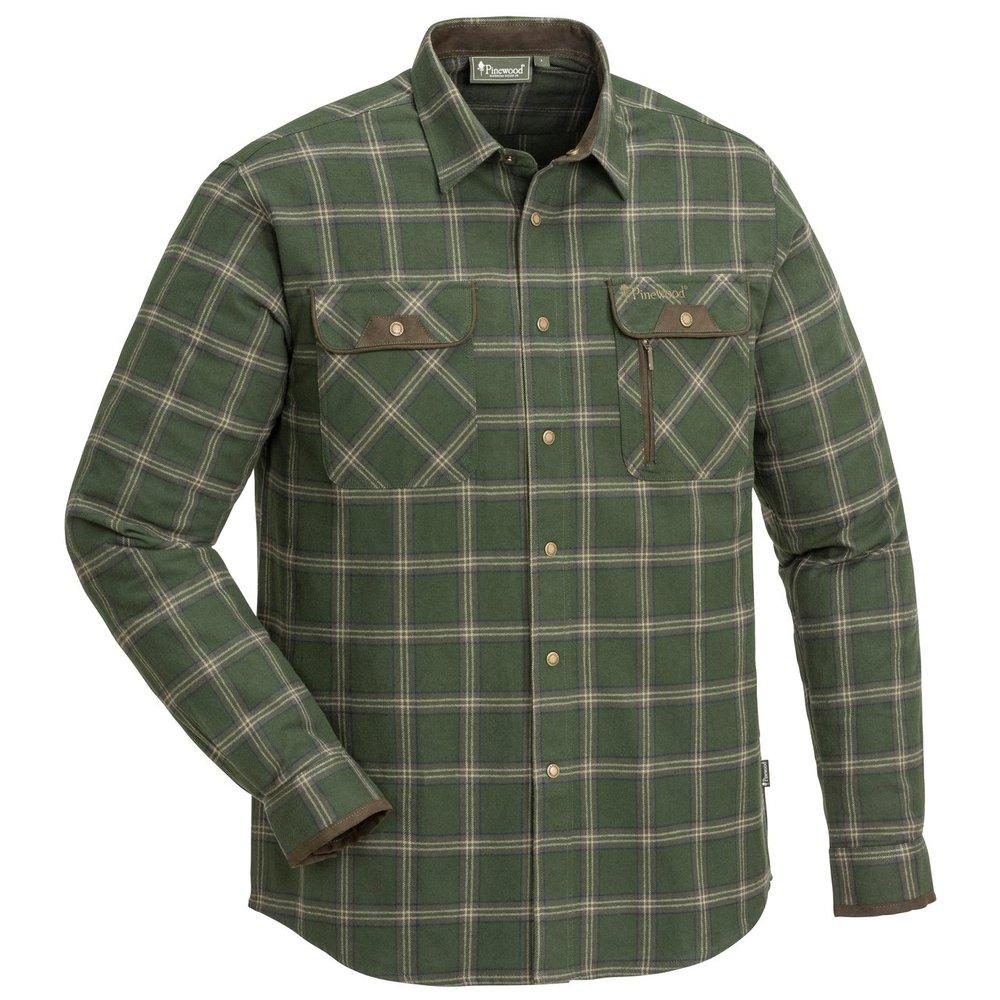 Prestwick Exclusive Skjorta Pinewood - Mossgrön/Mörkbrun *