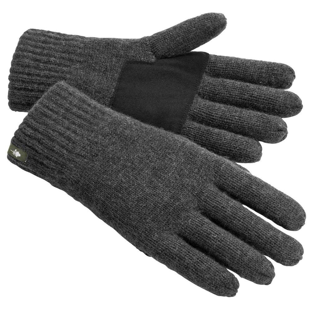 Wool Knitted Handske Pinewood - Mörk Antracit Melerad *