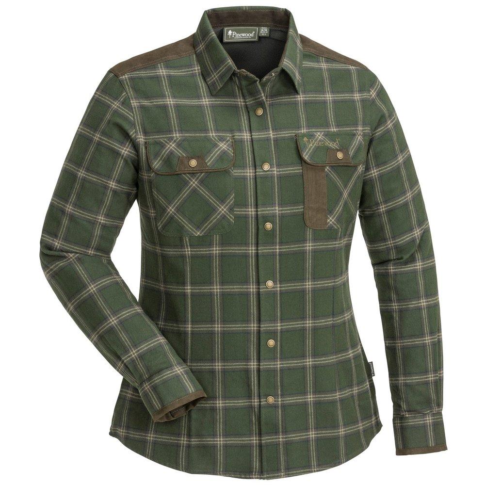 Prestwick Exclusive Skjorta Dam Pinewood - Mossgrön/Mörkbrun *