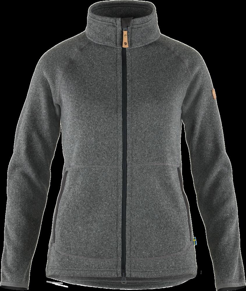 Övik Fleece Zip Sweater Dam Fjällräven - Dark Grey *