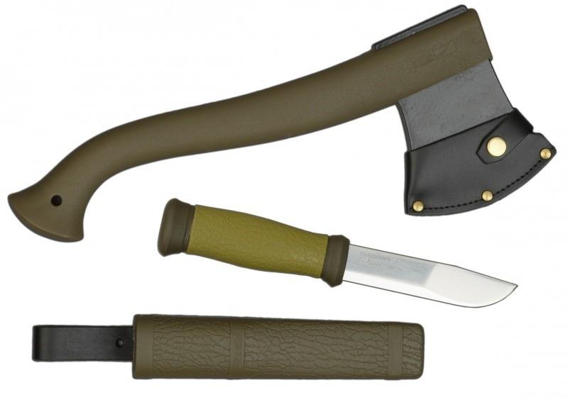 Mora Outdoor Kit Yxa + Kniv - Grön