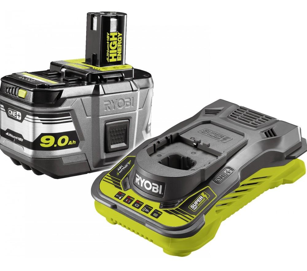 Ryobi RC18150-190 18V Lithium+ batteri 9,0AH och laddare 5,0 Amp/h