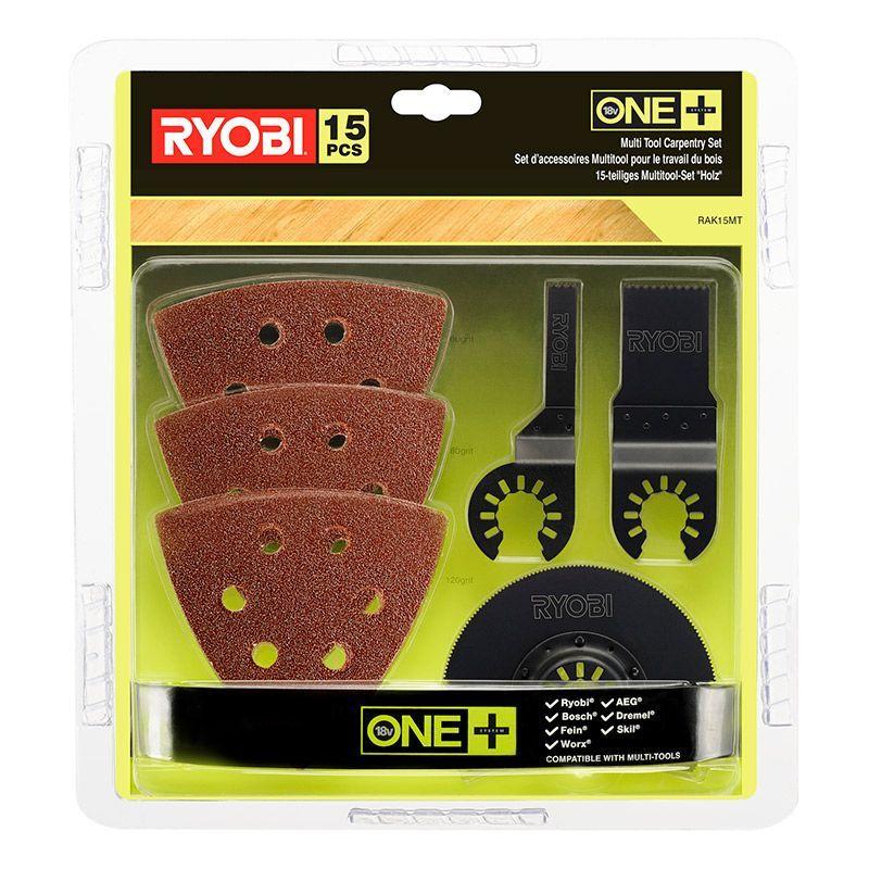 Ryobi RAK15MT Tillbehör Multiverktyg 15 delar