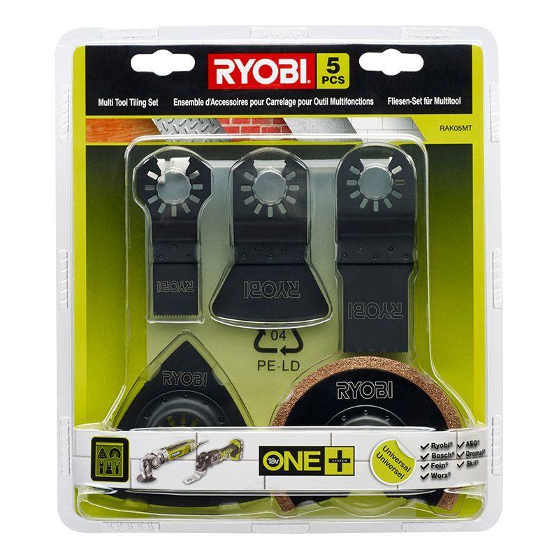 Ryobi RAK05MT Tillbehör multiverktyg 5 delar