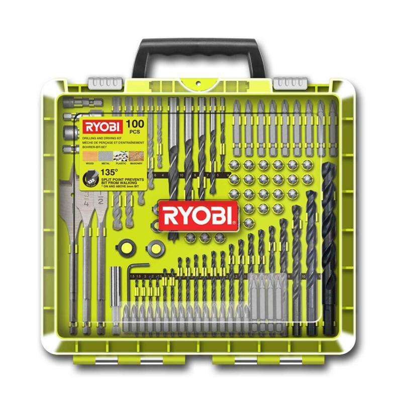 Ryobi RAKDD100 Borr-/bitssats 100 delar