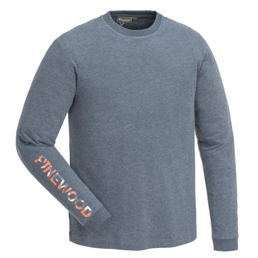 Bolmen Långärmad T-Shirt Pinewood - M. Dive Blå/Melange
