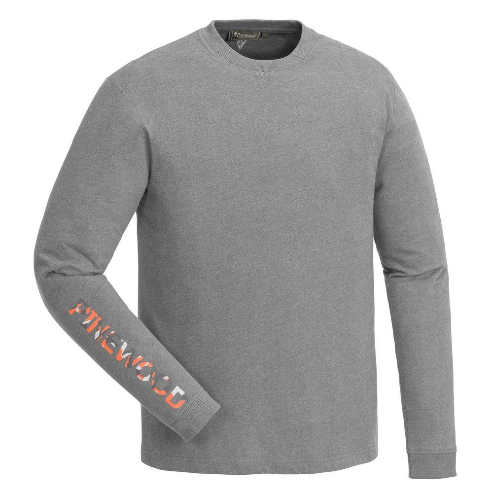 Bolmen Långärmad T-Shirt Pinewood - Light Grey Melange