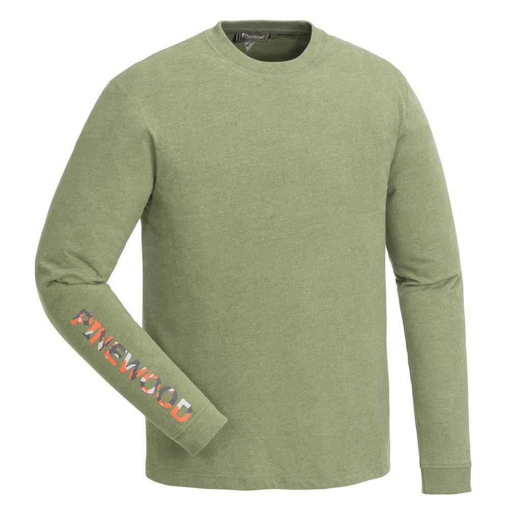 Bolmen Långärmad T-Shirt Pinewood - Leaf Melange