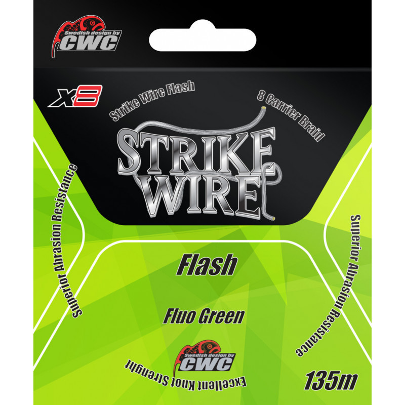 STRIKE WIRE FLASH X8 FLUO GREEN 135 METER