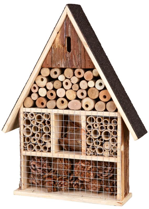 Insektshotell NL Trä 35×50×9 cm Trixie